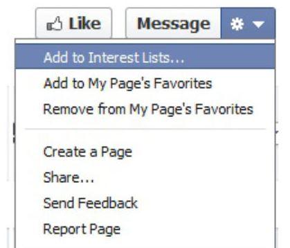Facebook interests